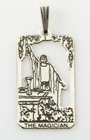 Magician Tarot Card Pendant .925 Sterling Silver