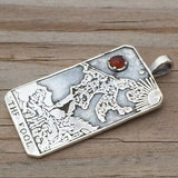 The Fool Tarot Card Pendant Sterling Silver