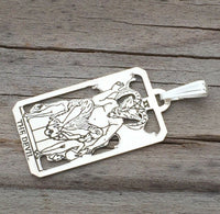 Devil Tarot Card Pendant Sterling Silver amulet