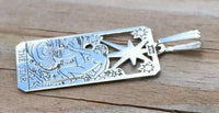 Star Tarot Card Pendant .925 Sterling Silver - small Star Tarot Jewelry