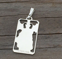 Devil Tarot Card Pendant .925 Sterling Silver - small Devil Tarot card amulet