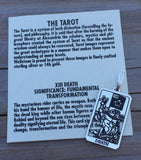 Death Tarot Card Pendant .925 Sterling Silver - Small Death Tarot Card pendant