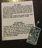 Temperance Tarot Card Pendant .925 Sterling Silver - small Temperance Tarot Jewelry