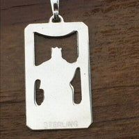 Justice Tarot Card Pendant .925 Sterling Silver - small Justice Tarot Amulet