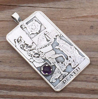 Death Tarot Card Pendant - Number 13 in the Major Arcana