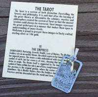 Empress Tarot Card Pendant solid .925 Sterling Silver - small Empress Tarot Amulet