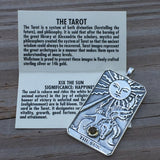 Sun Tarot Card Pendant Sterling Silver w/ Genuine Citrine Prosperity Success