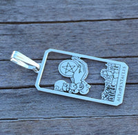 The Ace of Pentacles Tarot Card Pendant Made in the USA