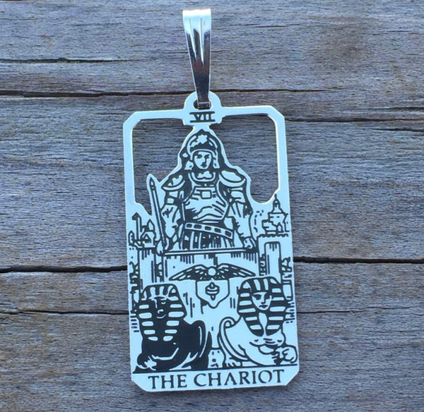 The Chariot Tarot Card Pendant - 7 in the Major Arcana