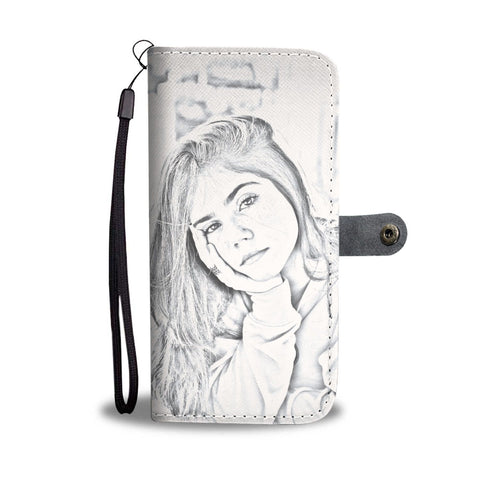 Turn Your Photo Into An Amazing Sketch Smartphone Wallet Case - Smartphone Wallet Cases