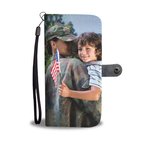 Turn Your Army Mother Daughter Photo Into An Amazing One-Of-A-Kind Smartphone Wallet Case - Smartphone Wallet Cases