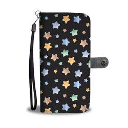 Starry Starry Night Seamless Watercolor Smartphone Wallet Case - Smartphone Wallet Cases