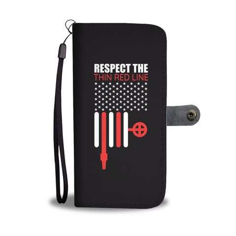 Respect The Thin Red Line Smartphone Wallet Case - Smartphone Wallet Cases