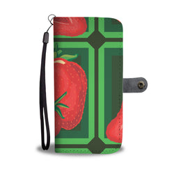 Strawberry Squares Wallpaper Smartphone Wallet Case - Smartphone Wallet Cases