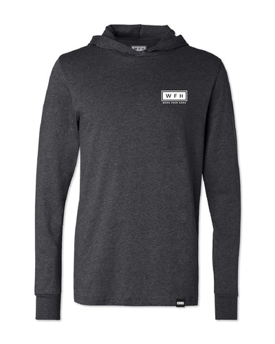 Men's WFH Logo L/S Soft Hoodie - WFHLIFE.com#color_black