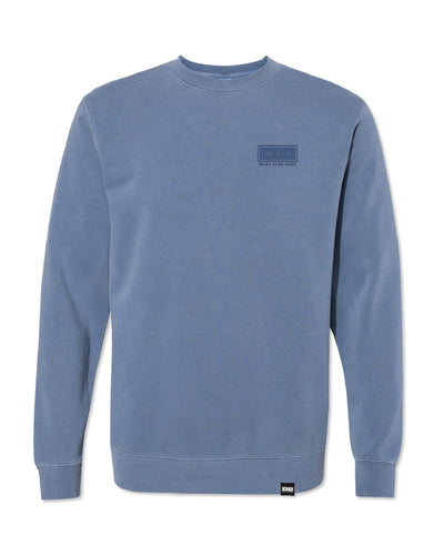 Men's WFH Logo Pigment Dyed Cozy Crew Sweatshirt - WFHLIFE.com#color_pigment-light-blue
