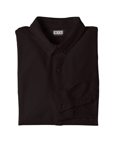Men's WFHWear Zoom On L/S Flow Button Down - WFHLIFE.com#color_black