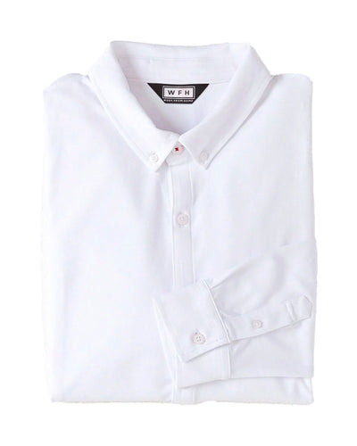 Men's WFHWear Zoom On L/S Flow Button Down - WFHLIFE.com#color_white