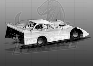 Dirt Late Model Illustration 2