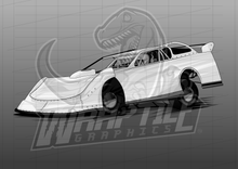 Load image into Gallery viewer, Dirt Late Model Illustration 3