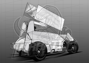 Vector Racing Graphic Template