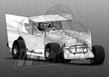 Load image into Gallery viewer, Vector Racing Graphic Template