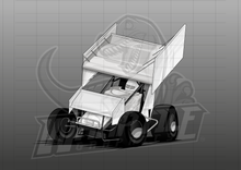 Load image into Gallery viewer, Sprint Car Illustration 1
