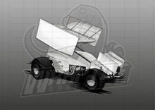 Load image into Gallery viewer, Sprint Car Illustration 2
