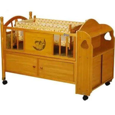 2 In 1 Wooden Cot With Drawer and Mattress 5110N - Kyemen Baby Online