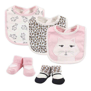 BABY BIB (  3 PIECES  WITH  SOCKS )kitty - Kyemen Baby Online