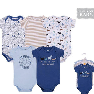 Baby Boy body suits/ Baby Dress (5pcs, Dog) - Kyemen Baby Online