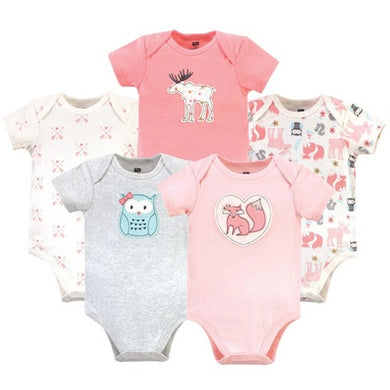 Baby Girl body suits/ Baby Dress (5pcs, Forest Girl) - Kyemen Baby Online