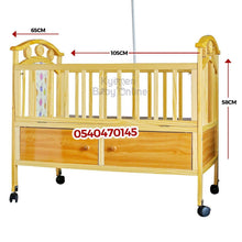 Load image into Gallery viewer, Baby Cot with Mattress (2 in 1 Wooden) 5233