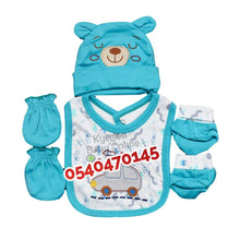 Load image into Gallery viewer, Baby Bib (Bib, Hat, Mitten & Socks)