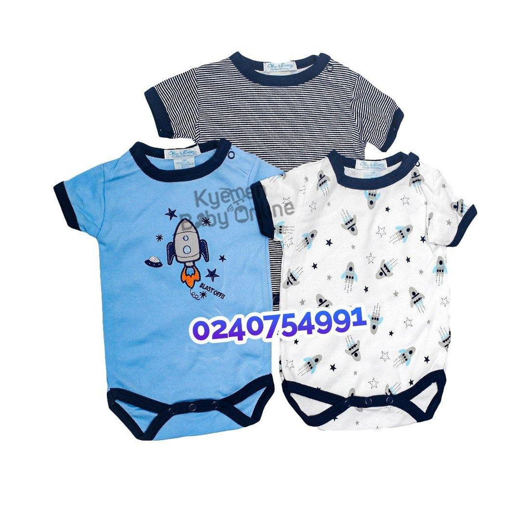 Baby Boy body suits/ Baby Dress (3pcs) Blast