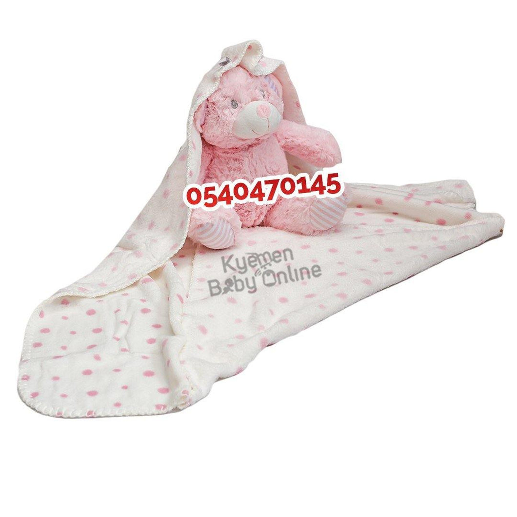 Baby Blanket With Teddy Bear (Fleece)