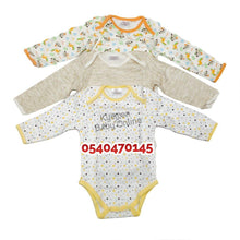 Load image into Gallery viewer, Baby Body Suit, Long Sleeves (Kids Center, 3pcs)