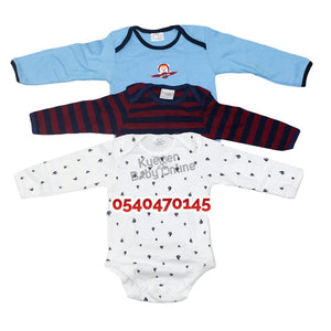 Baby Body Suit, Long Sleeves (Kids Center, 3pcs)