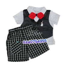 Load image into Gallery viewer, Baby Boy Dress (Bow Tie With Vest, Ohm And Emmy)
