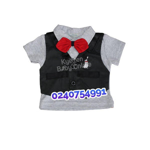 Baby Boy Dress (Bow Tie With Vest, Ohm And Emmy)