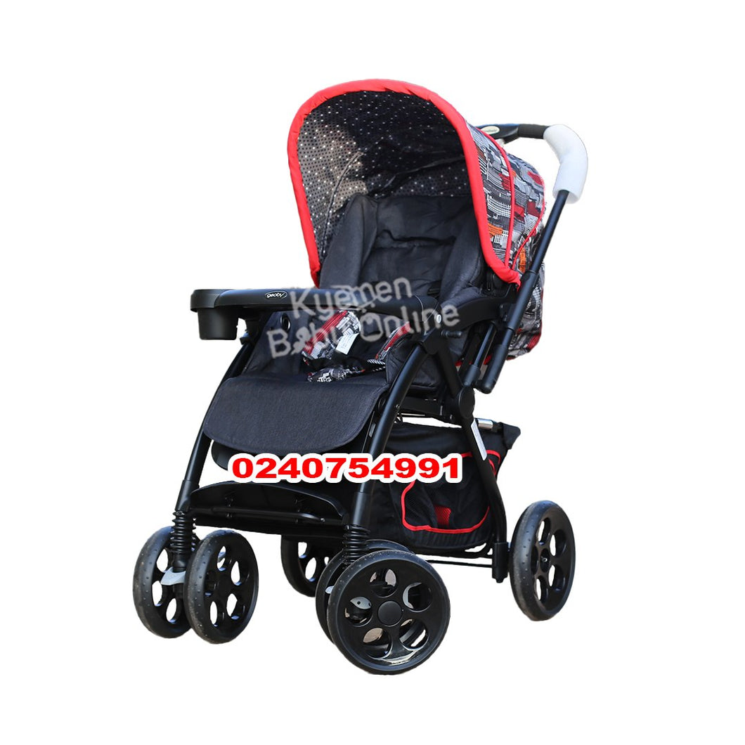 Stroller, Car Seat & Diaper Bag Set (3 in 1)- 4 Wheels