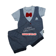 Load image into Gallery viewer, Baby Boy Dress (Red Bow Tie With Vest, Necixs)