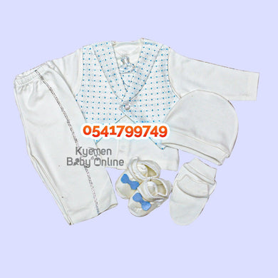 Baby Boy Dress (Boy Christening Dress Set, 0-6m) Deep Blue - Kyemen Baby Online