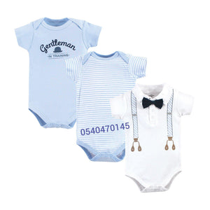 Baby Boy body suits /Dress Set (3pcs, Suspenders)