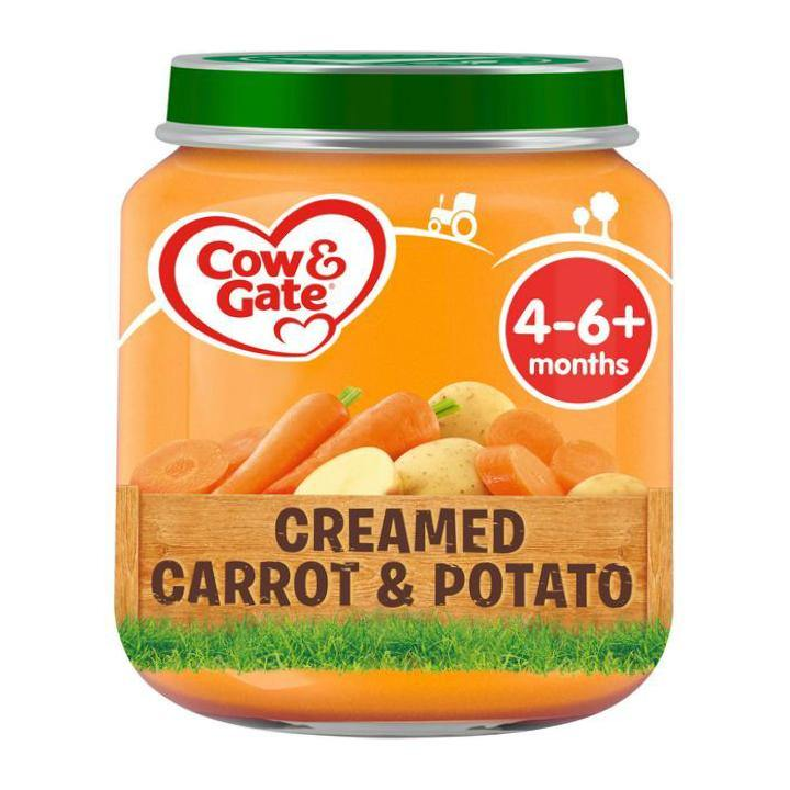 Baby Food (Cow & Gate Creamed Carrot & Potato- 6pcs) - Kyemen Baby Online