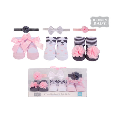 Baby Shoe Socks booties and 3pcs With Headband (Panda) - Kyemen Baby Online