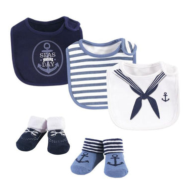 Baby Bib (3 Pieces With Socks) Sailor - Kyemen Baby Online