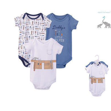 Baby Boy body suits/ Baby Dress (3pcs, Mr Fix It) - Kyemen Baby Online