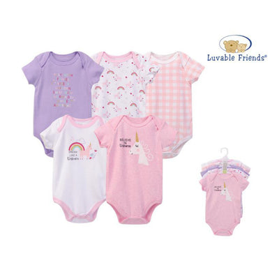 Baby Girl body suits/ Baby Dress (5pcs, Unicorns) - Kyemen Baby Online