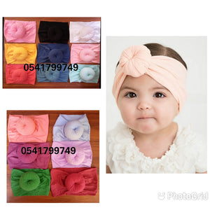 Baby Turbans 3pcs (Half head doughnut)